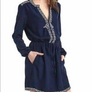 Gap cotton long sleeve boho dress